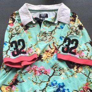 Hustle Gang polo shirt - Cherub print - Size 2X